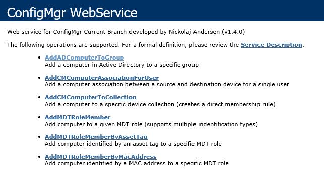 ConfigMgr WebService | System Center ConfigMgr
