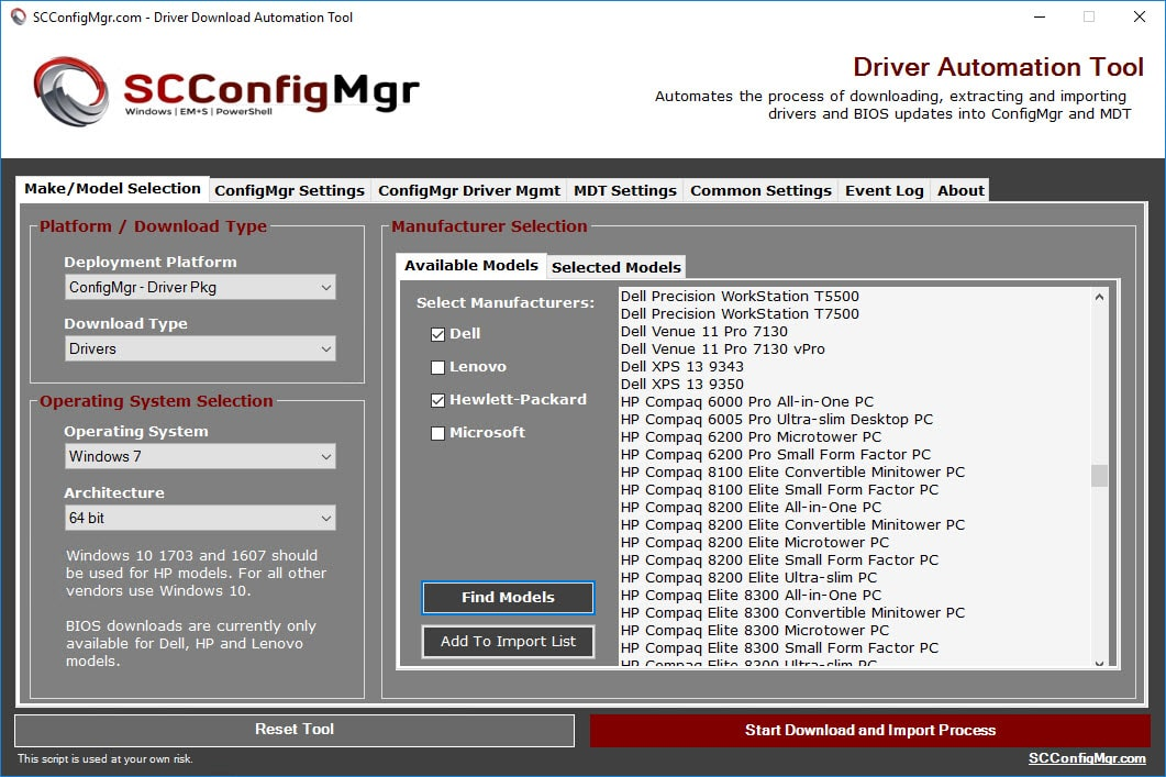 Driver Automation Tool 5 0 0 Released | | System Center ConfigMgr
