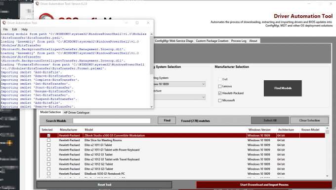 Driver Automation Tool – Version 6 2 0 released | | System