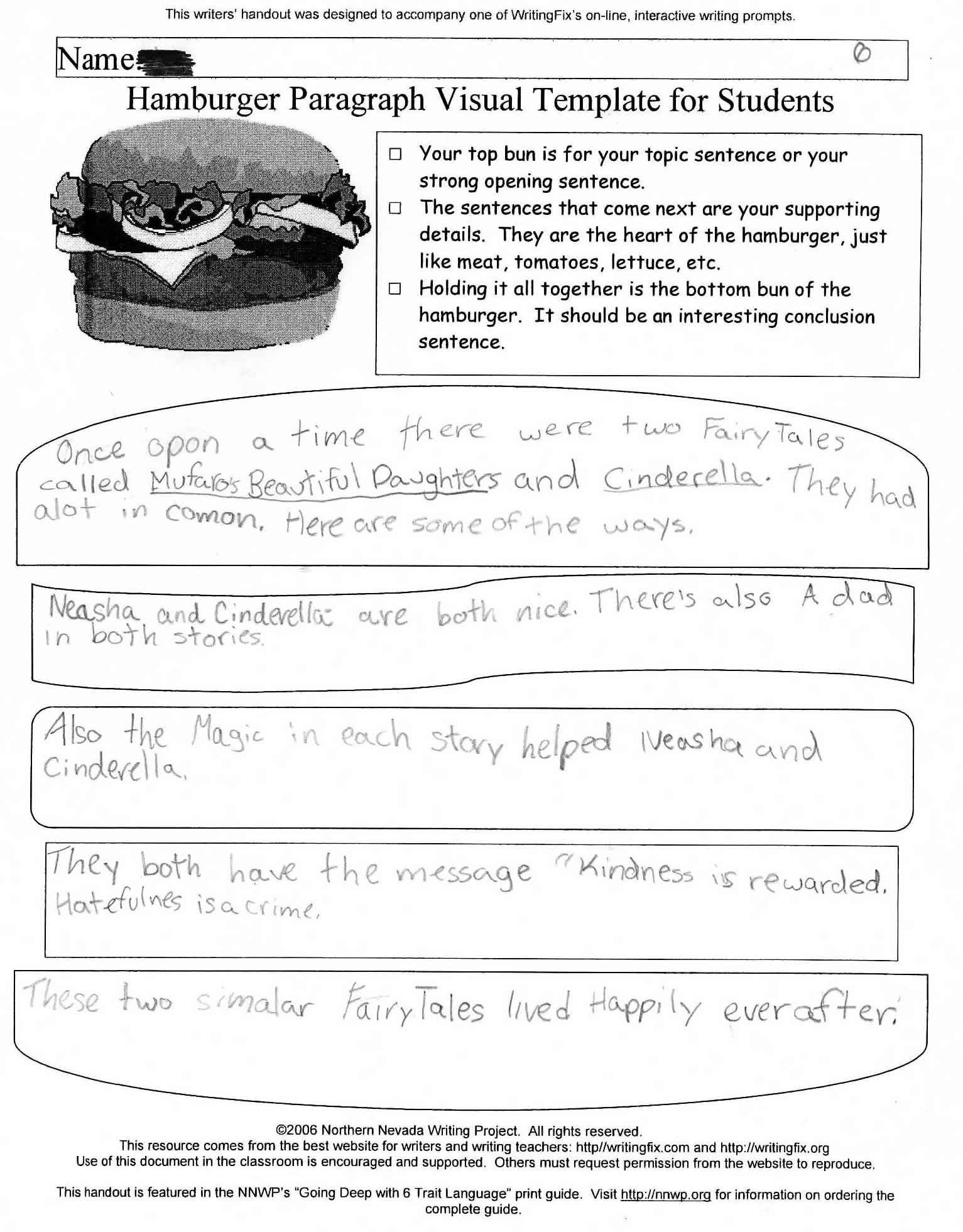 Grimm Fairy Tale Worksheet