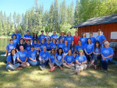 Ketchum, pictured here with the 4-H camp staff and chaperones