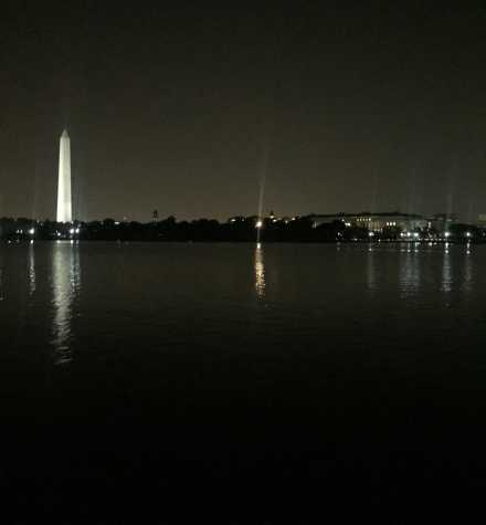 Mehta has a view of the Washington Monument when she runs at night. She lives two blocks away from the D.C. monuments.