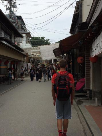Jakobs explores the small restaurants and shops of Miyajima Island.