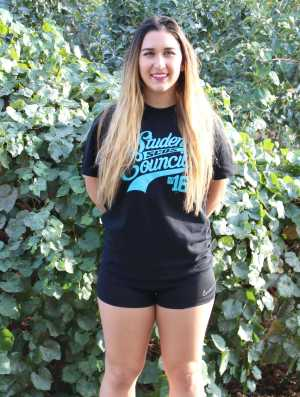 Senior Julia Owaidat Favorite item: Black Student Council T-shirt Why? Black goes with everything, and the shirt itself is really soft. The quality of the stitching's great.