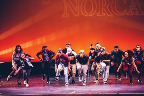 Lumban (center, wearing brown beanie) dances with his dance crew at Prelude Norcal.