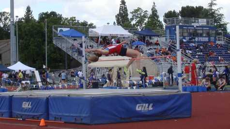 Freshman Heidi Johnson competes in the high jump at the Halden Invitational at Davis Senior High School on April 23.