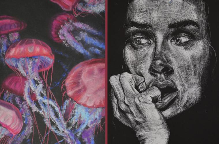 Senior submits art pieces to California State Fair Student