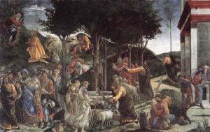 La fresque de la vie de Moïse à la Chapelle Sixtine