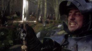 Par la magie de Merlin, Uther fera croire à la future mère d'Arthur qu'il est son mari