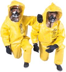 crime scene cleaners in protective gear