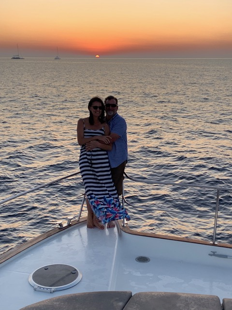 Romantic Sunset Cruise in Greece
