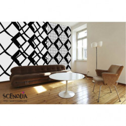 papier peint geometrique noir et blanc