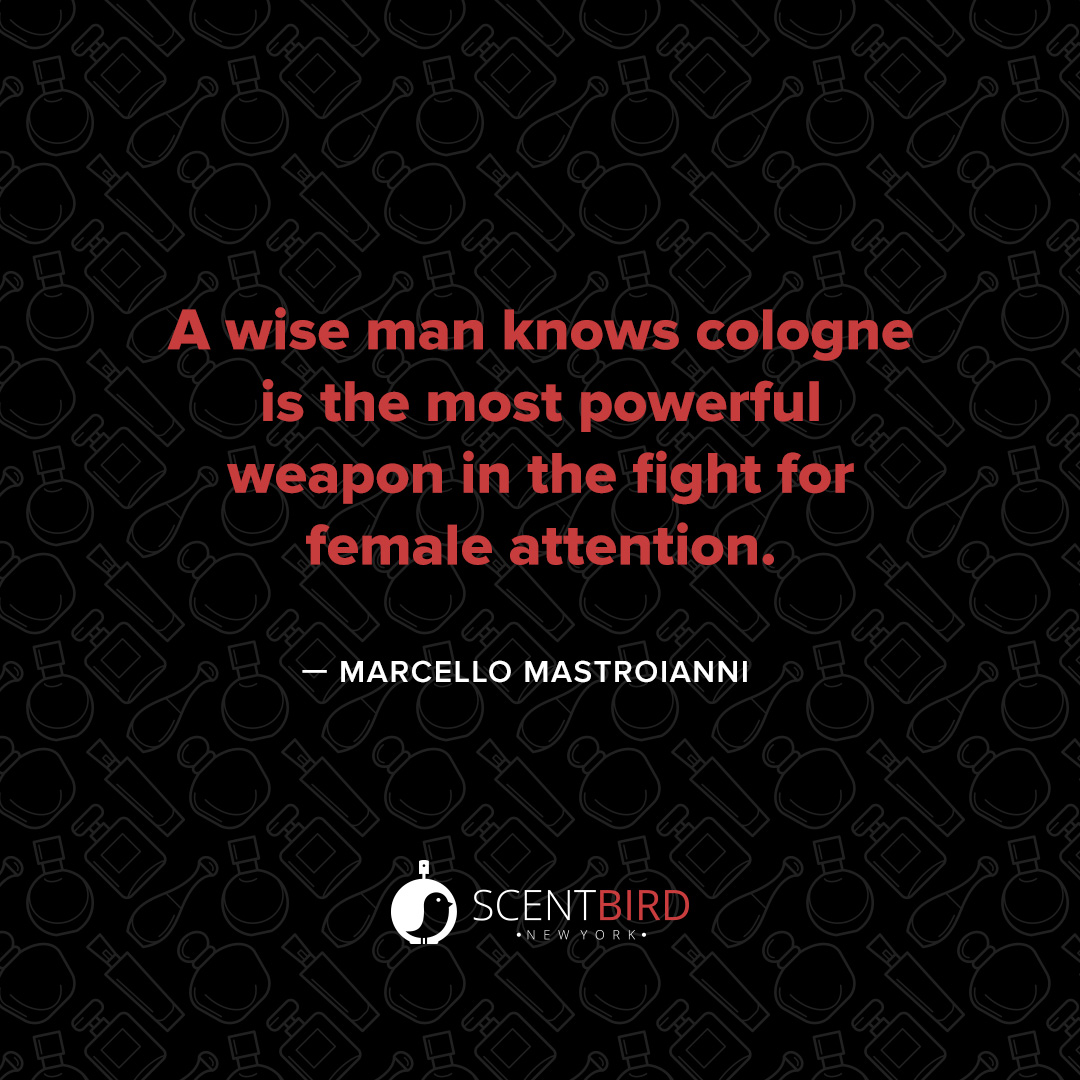Marcello Mastroianni Cologne Quote