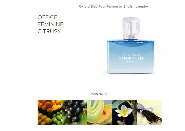 Oxford Bleu Pour Femme By English Laundry 1