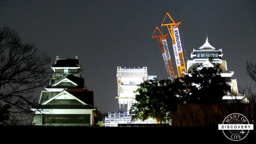再建工事真っ只中の熊本城を見学してきました