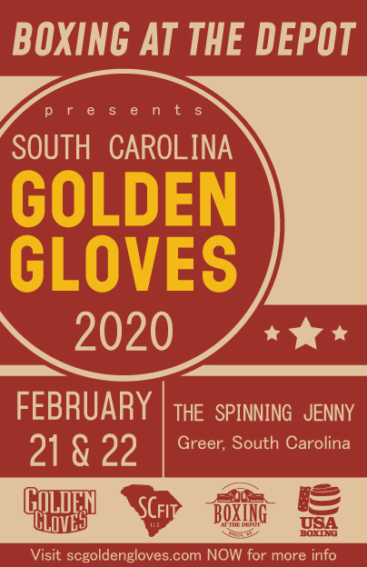 2020 sc golden gloves poster