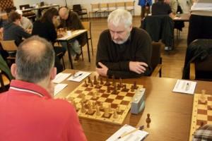Manfred mit Schwarz gegen Stefan Gazmaga