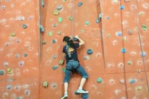 Für Katharina Du war es der erste Kletterversuch, den sie erfolgreich beenden konnte.