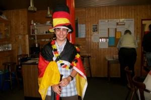 Im Deutschland Outfit: Silvio Alten!