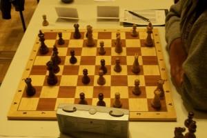 Hier fing Ronny als Nachziehender die weiße Dame auf g5!