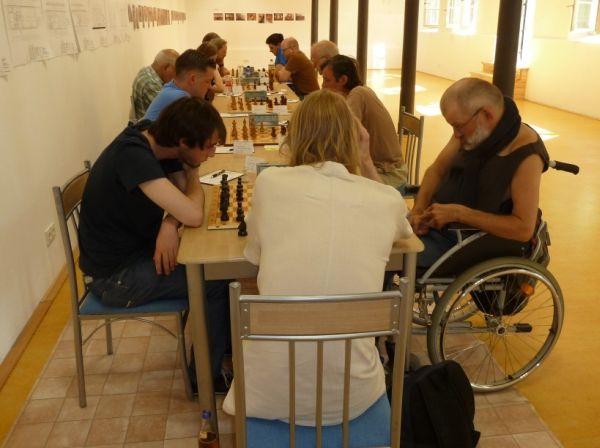 Der über eine zusätzliche Rollstuhlrampe erreichbare Souterrain, den wir dank SF Lippianowski nutzen durften. So konnte er Runde für Runde bequem sein Brett erreichen!