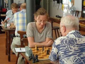 Die einzige Frau im Turnier: Lena Gebigke