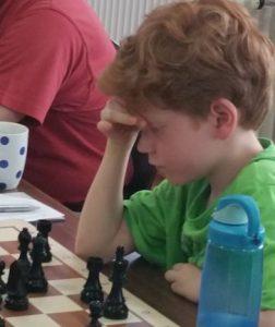 Jonas Eilenberg, gerade mal 10 Jahre jung und war bis zu dieser Runde nicht bezwingbar...