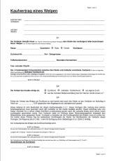 Kaufvertrag Schäferhund Welpe