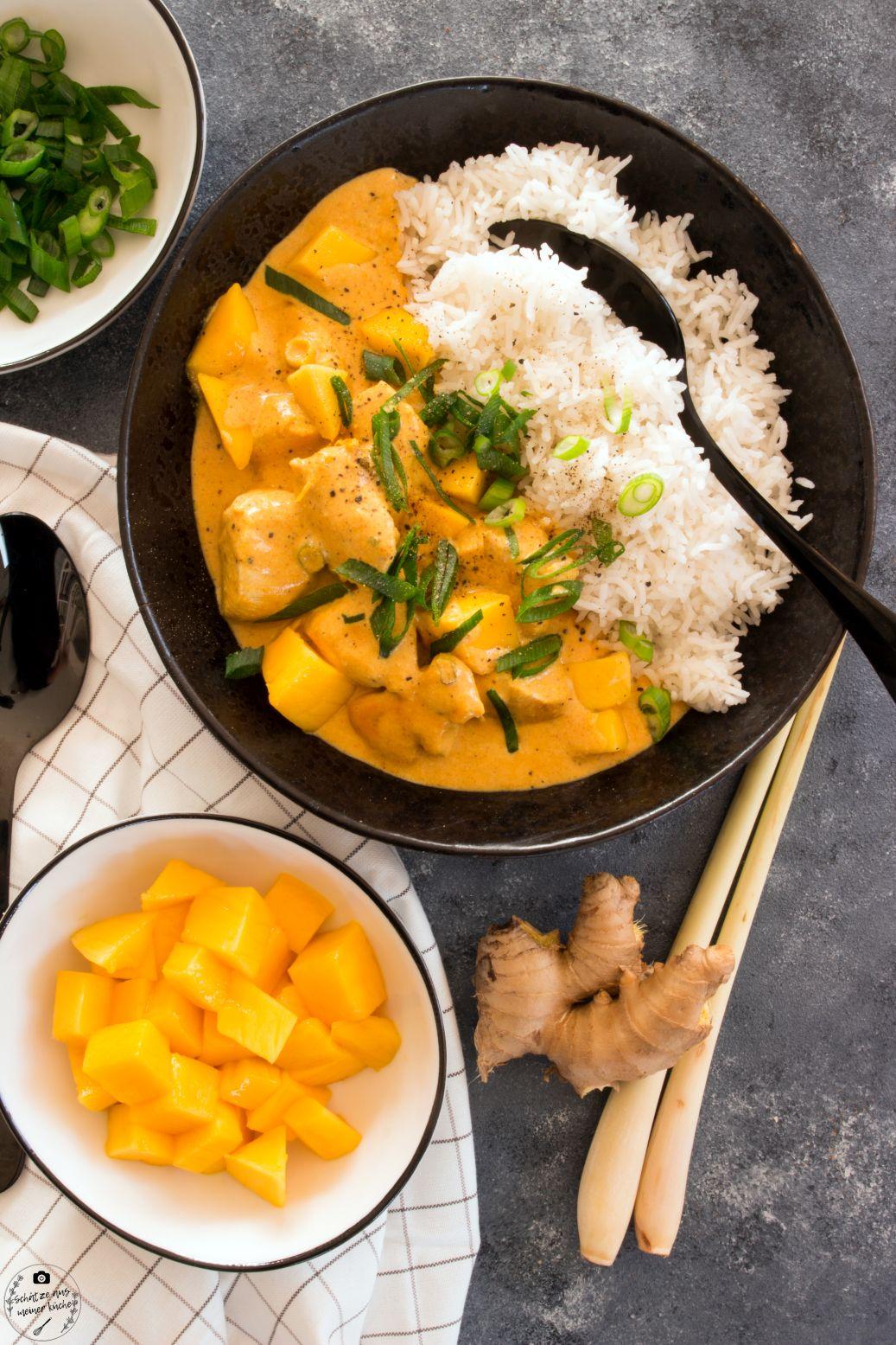 Mango Chicken Curry mit Basmatireis