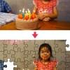 お誕生日のジグソーパズル
