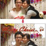 クリスマスのジグソーパズル