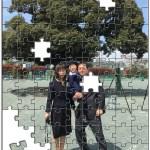家族集合写真でジグソーパズル