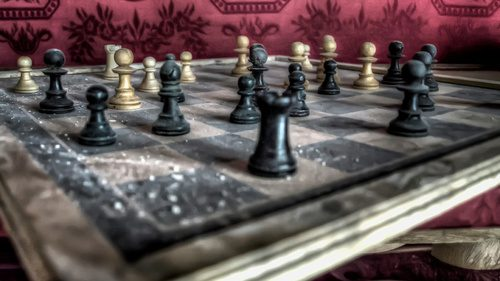 Spreuk over stilte bij het schaken