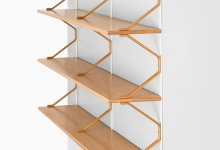 Bruno Mathsson bookcase in beech at Studio Schalling