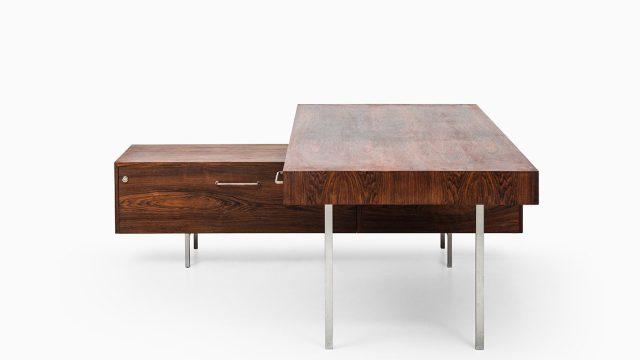 Big rosewood desk with sideboard at Studio Schalling