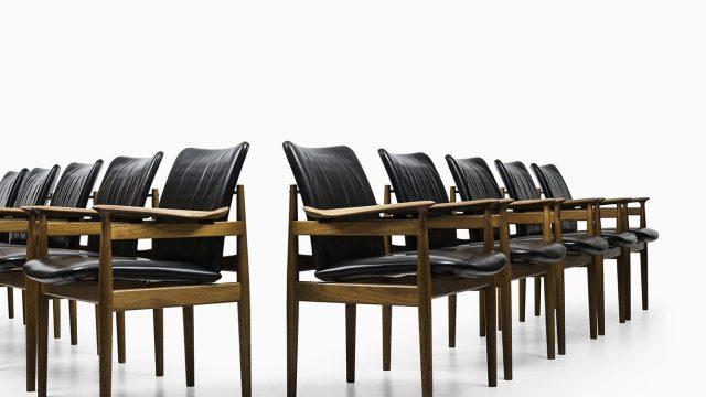 Finn Juhl armchairs model 192 by France & Son at Studio Schalling