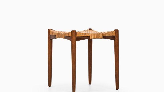Aksel Bender Madsen & Ejnar Larsen stool in teak at Studio Schalling