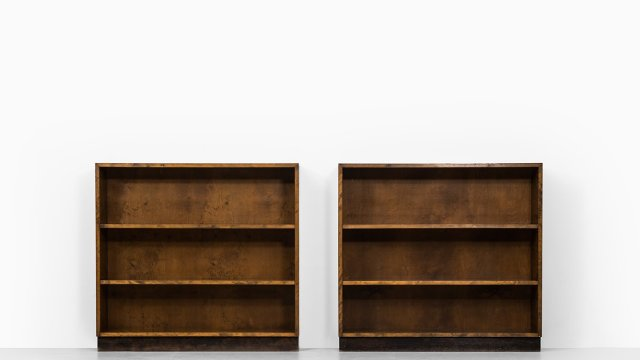 Axel Einar Hjorth bookcases in birch at Studio Schalling