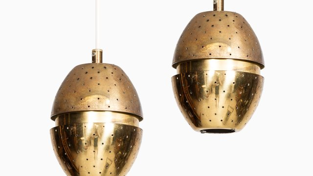 Hans-Agne Jakobsson ceiling lamps in brass at Studio Schalling