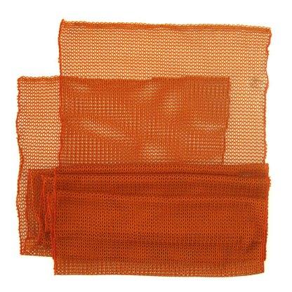 Italienischer Polyester Netz-Schal orange braun