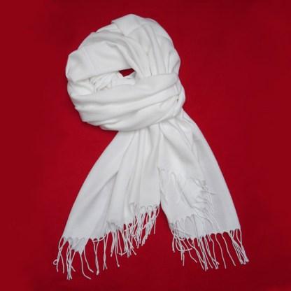 Pashmina Schal in weiß