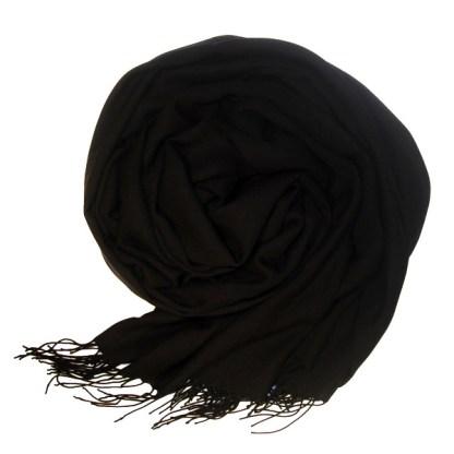 Pashmina Schal in schwarz