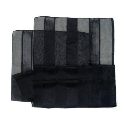 Polyester Schal schwarz