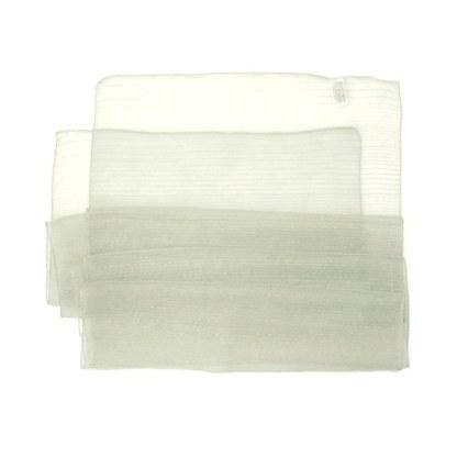 Polyester Schal in blaßgrün liniert