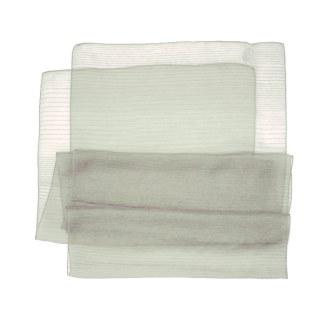 Polyester Schal in resedagrün liniert