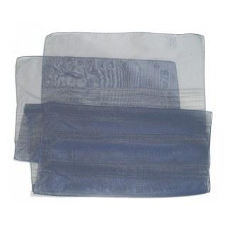 Polyester Schal in blau mit feinen Linien