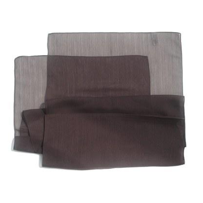 Chiffon-Polyester Schal in braun strukturiert