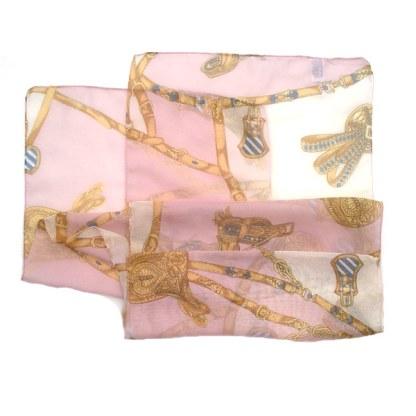 Chiffon-Polyester Schal mit mittelalterlichen Motiven
