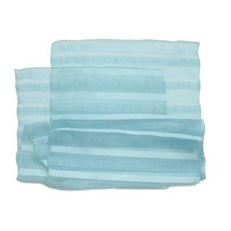Eleganter Polyester Schal gestreift in blau