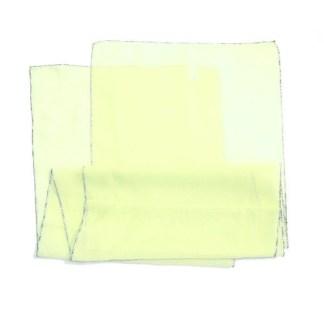 Polyester Schal in gelb mit silbernem Rand